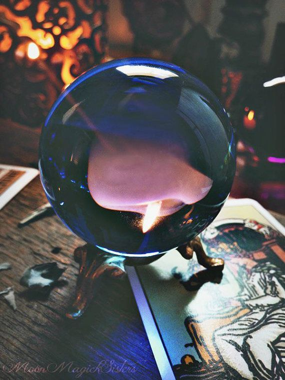 Sea Witch Crystal Sphere ~ Scrying Blue Ball ~ Witch Tool ~ West Element ~ Wiccan Crystal