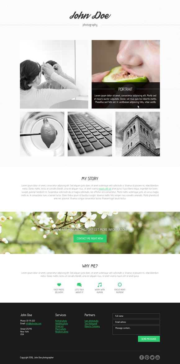 Photographer PSD template by Knofe on @creativemarket