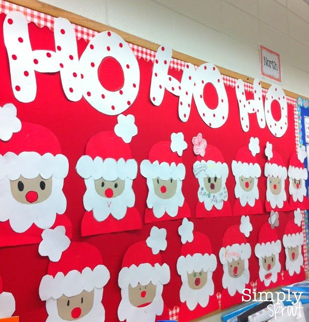 Christmas Bulletin Boards Santa - www.pinterest.com/WhoLoves/Christmas ¸.•♥•.¸¸¸ツ #Christmas ¸.•♥•.¸¸¸ツ
