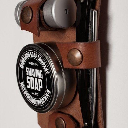 Damn Good Soap Company Leather Shaving Set Open Razor - Beardshop