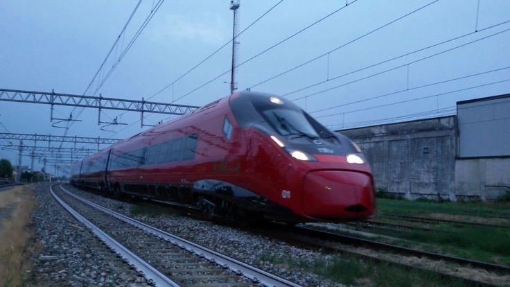 ETR 675.01 Italo prima uscita dallo stabilimento Savigliano 27.6.2017