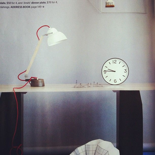 Thanks @Ten Things for the great Instagram of our March 2013 issue. We loved featuring your clock in our Wabi Sabi story.