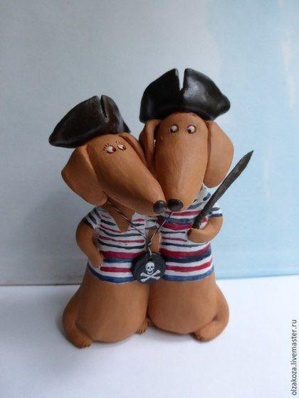 Куклы и игрушки ручной работы. Ярмарка Мастеров - ручная работа. Купить Пиратская свадьба. Handmade. Разноцветный, собака