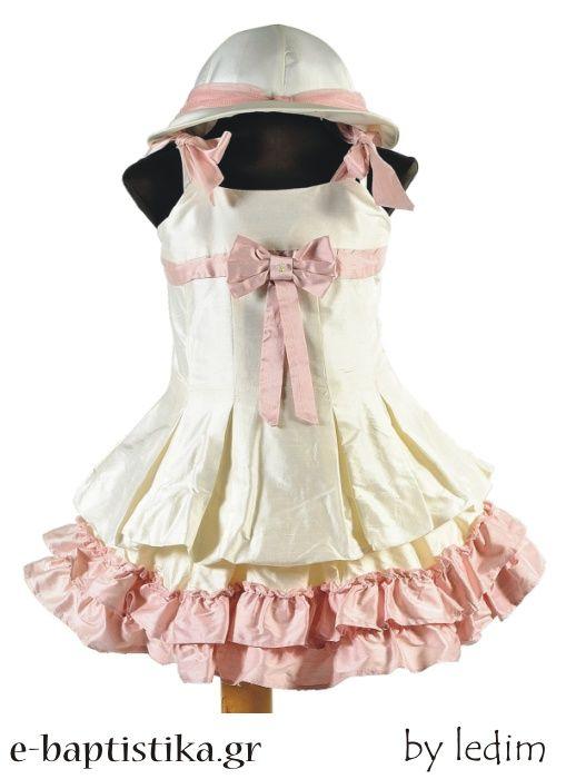 13590449ba90 Βαπτιστικό φόρεμα amp amp nbsp Picolo bambino PBK138 από ολομέταξω ταφτά.  Συνοδεύεται με