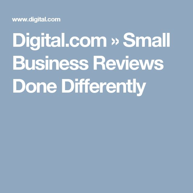 Digital.com » Small Business Reviews Done Differently