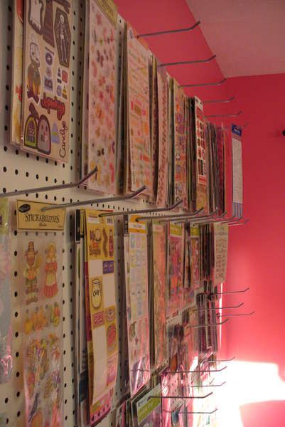 Scraproom: Pegboard- Sticker Organization (for closet storage)This is a terrific way of storing and displaying your stickers. I had a wall like this when I had my scraproom.
