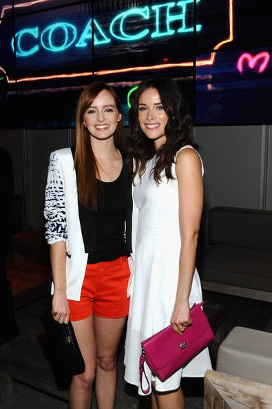 Abigail Spencer Photos - Actresses Ahna O'Reilly and Abigail Spencer, carrying Coach, attend Coach's 3rd Annual Evening of Cocktails and Shopping to Benefit the Children's Defense Fund hosted by Katie McGrath, J.J. Abrams and Bryan Burk at Bad Robot on April 10, 2013 in Santa Monica, California. - Evening of Cocktails and Shopping Charity Event