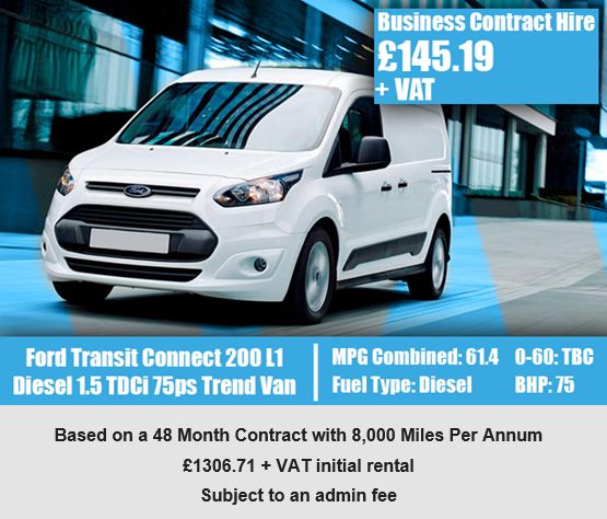 Ford Transit Connect 200 L1 Diesel 1.5 TDCi 75ps Trend Van