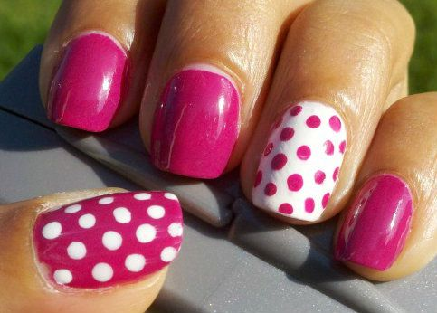accent nails; except i would only do the ring finger