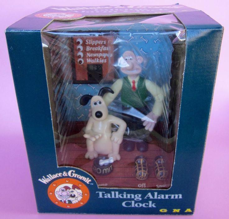NEW WALLACE AND GROMIT TALKING ALARM CLOCK Digital Figurine Lighted AARDMAN BBC  | eBay