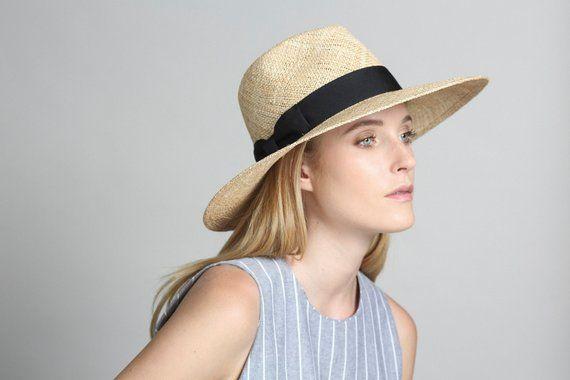46557a6b74ecff Wide Brimmed Hat , Wide Brim Straw Hat , Fedora Hat , Womens Straw Fedora  Hat , Fedora Summer Hat