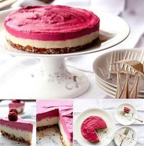 Zobrazit detail - Recept - Nepečený malinový dort s oříšky