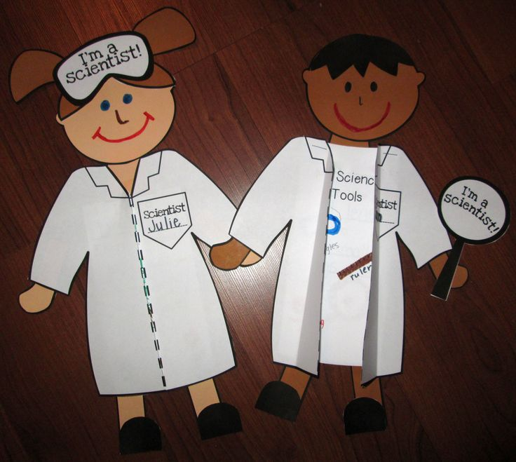 Craftivity part of the What Is Science Unit! What a cute way to get kids excited about being scientists!
