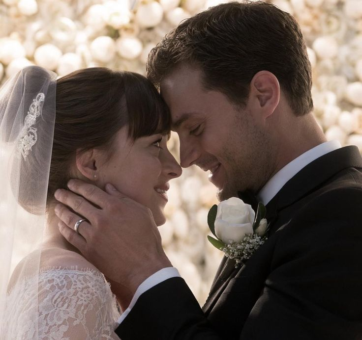 """Mr. & Mrs. Grey. . What did you think of the #fiftyshadesfreed trailer? . #OfficialFifty…"""