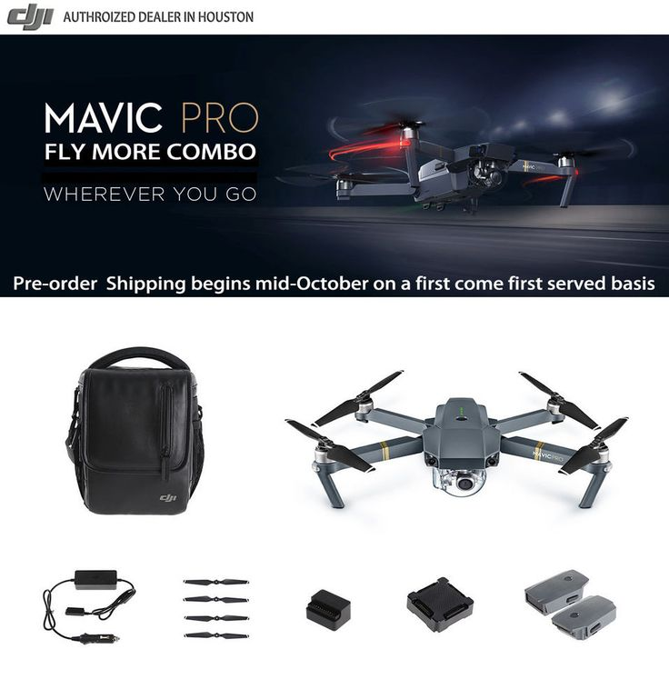 DJI Mavic Pro Fly More Combo (Pre-order Mid October First come First served ) #DJI
