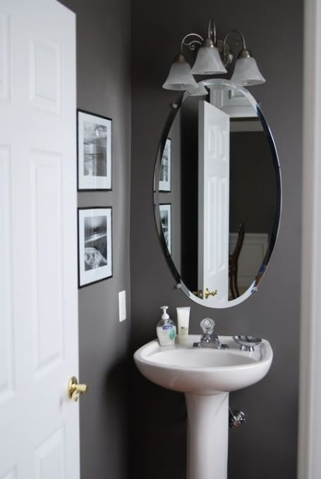 Grey half bathroom decoration idea home pinterest for Grey and white bathroom accessories