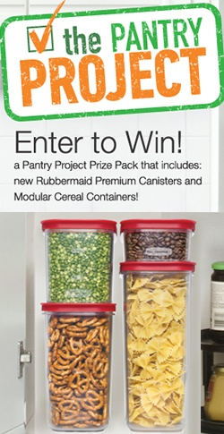 Win Rubbermaid Premium Canisters for Your Pantry