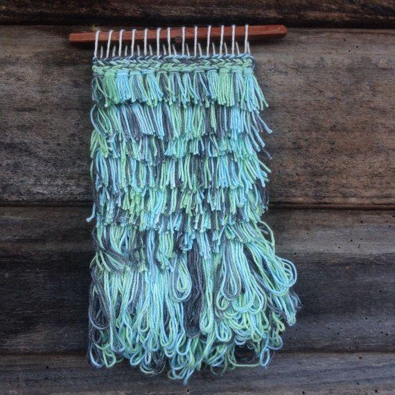 Texture woven wall hanging / tapestry / Mini by handspunandweaving