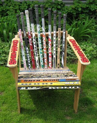 How cool would a hockey stick chair be?