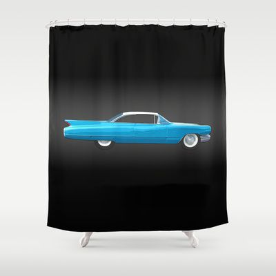1960 Cadillac Coupe De Ville Shower Curtain by Bruce Stanfield - $68.00