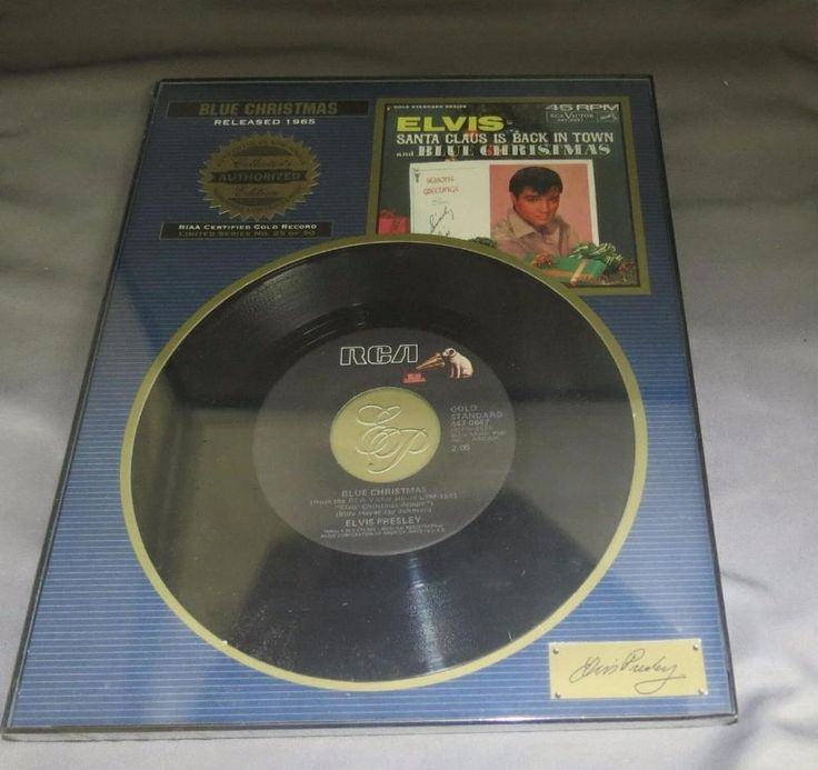 Elvis Presley Authentic 45 Authorized Collector's Edition Blue Christmas