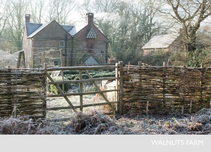 Walnuts Farm – traditional Wealden farmhouse built around 1800 with a separate two storey granary outbuilding, set in 5 acres of gardens, meadows and woodland. Every single image on this site makes my heart cry.