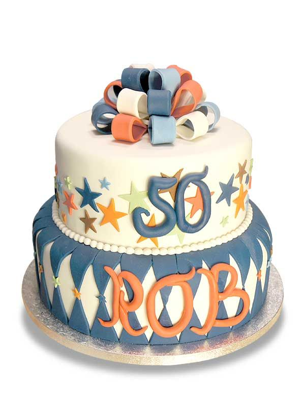 PuurTaart :: Taartengalerij - Verjaardag taart Rob 50 jaar - Birthday cake