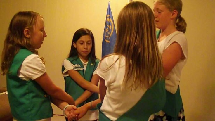 Girl Scout songs and closing circle