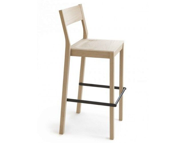 Wooden counter stool with footrest SKANDINAVIA KVBT6 by Nikari design Kari Virtanen