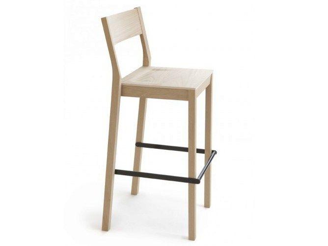 Wooden counter stool with footrest SKANDINAVIA KVBT6 by Nikari design Kari Virtanen