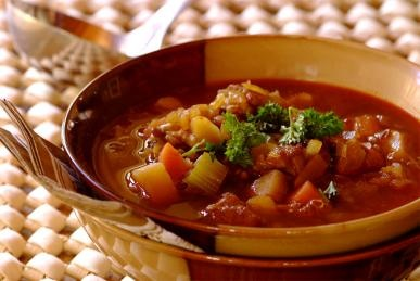 Hearty beef and lentil soup!