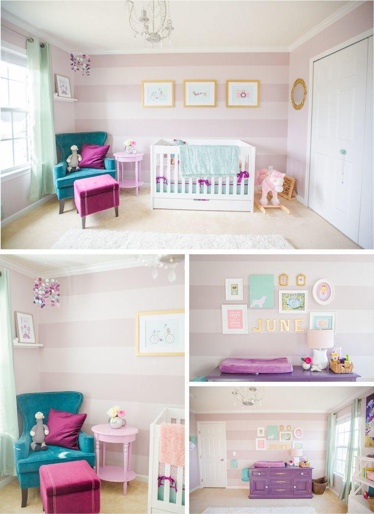 decoracao quarto de menina rosa, mas diferente