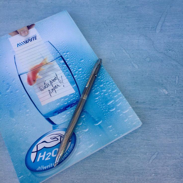 Fisher Space Pen, waterproof notebook