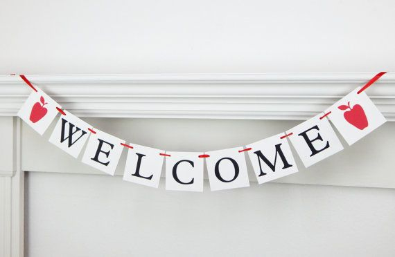 Welcome banner first day of school welcome back by MelissaTalbott