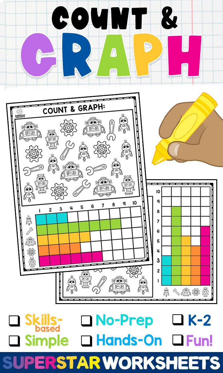 Count And Graph Worksheets In 2021 Graphing Activities Math Center Math Concepts [ 1228 x 735 Pixel ]