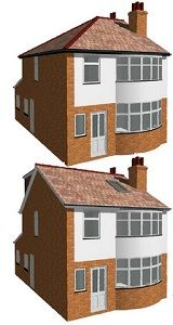 Image result for hip to gable conversion