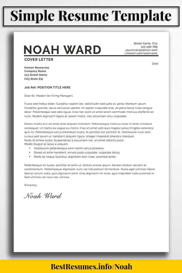 Simple Resume Template Layout To Stand Out With Your Job Resume!  Downloadable Resume Templates And Great Resume Inspiration With Resume  Samples On Our