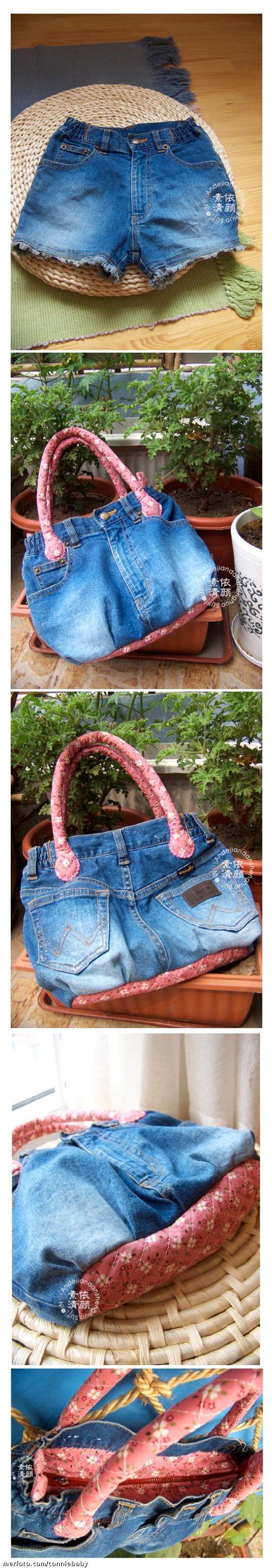 aus alter Jeans-eine neue Tasche