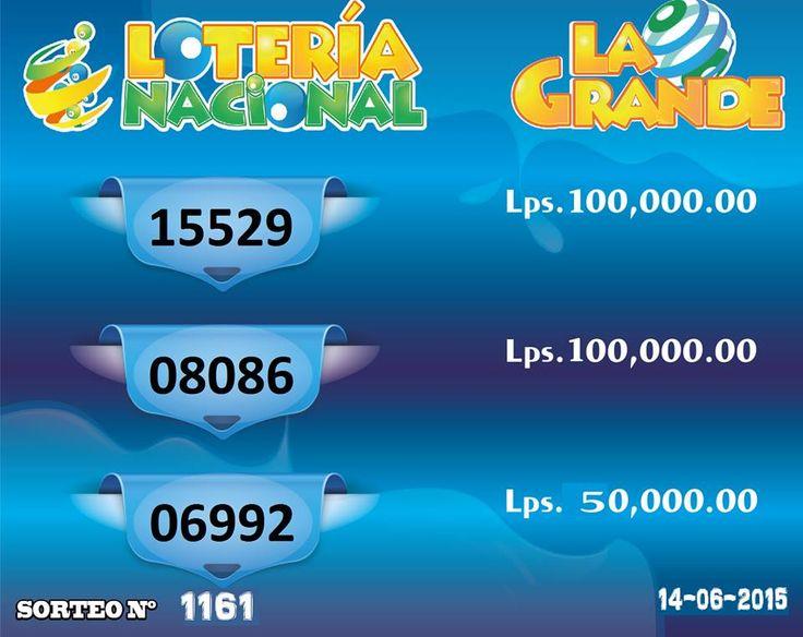 Resultados Loteria La Grande Nro 1161 del domingo 14-6-15 series premiadas...