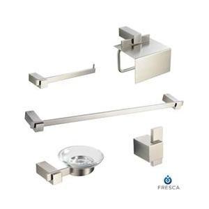 Beau Fresca FAC1400BN Ellite 5 Piece Bathroom Accessory Set   Brushed Nickel