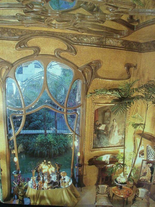Art Nouveau Interior, Casa Holtz in Mexico City