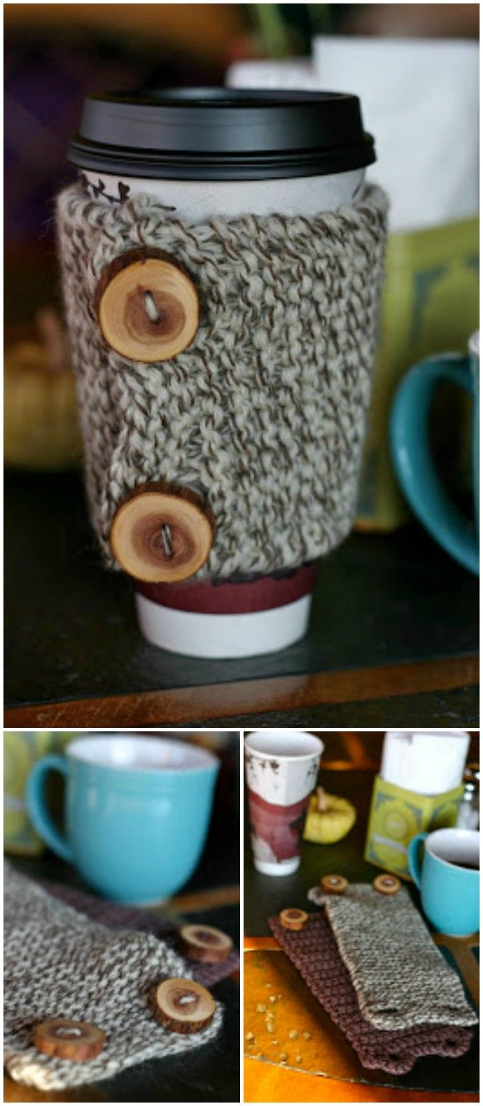 I have rounded up 20 Free and Easy Knitting Patterns for your!Knitting or Crochet Coffee Cozy