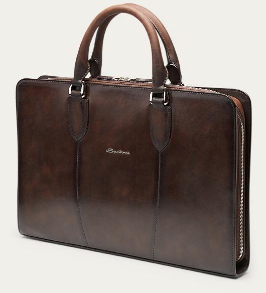 Santoni Laptop bag dark brown