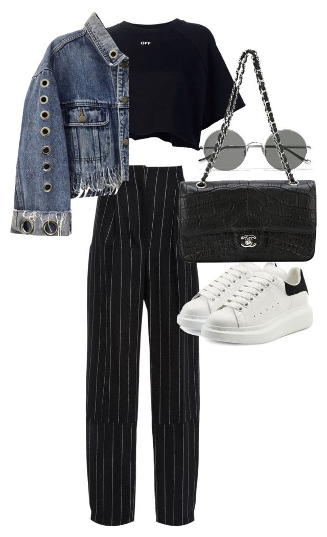 """""""Untitled #21894"""" by florencia95 ❤ liked on Polyvore featuring Maiyet, Sunday Somewhere, Off-White, Alexander McQueen and Chanel"""