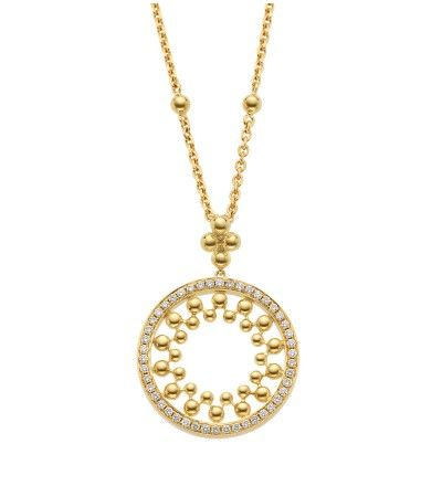Classic Circus Yellow Gold Diamond Pendant l Boodles