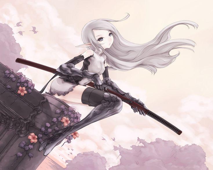 Anime Kimono Warriors | Blade Wielding Girl Wallpaper Pack ...