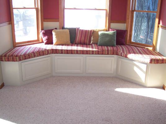 Bay Window Seats | ... Bay Window Nook Into A Comfortable Seating Area,