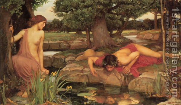 Echo and Narcissus  1903 by John William Waterhouse