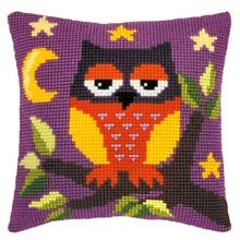 I love doing Needlepoint, and I love Owls, so this kit is perfect!  Orchidea Red Owl Pillow Cover Needlepoint Kit
