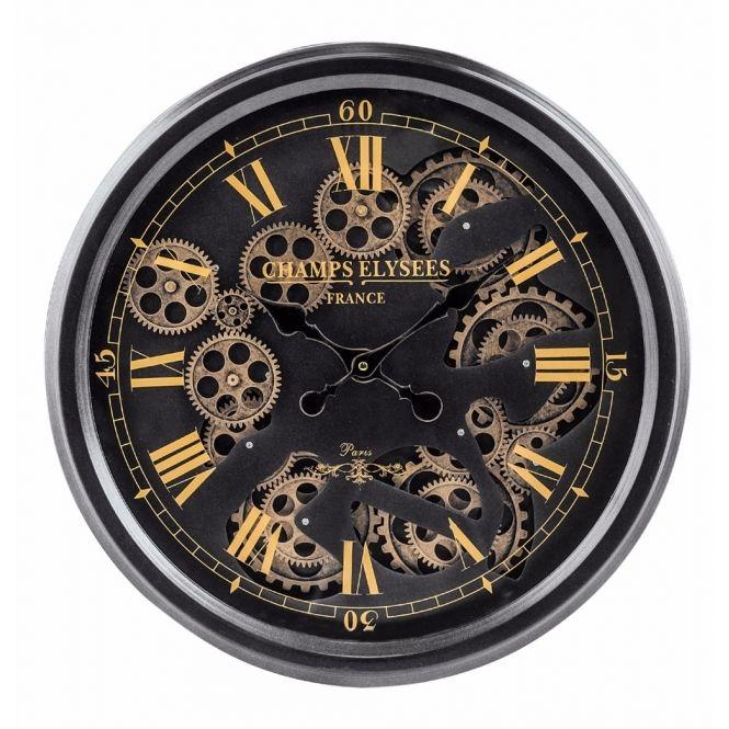 Moving Gears Wall Clock Black Gold Gear Wall Clock Wall Clock Wall Clocks Uk